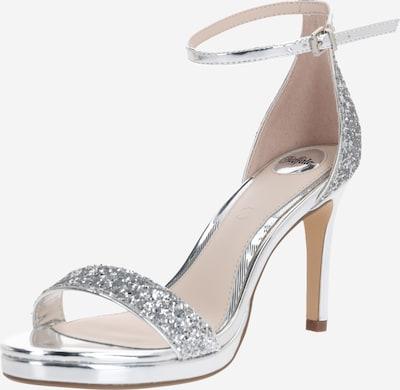 Sandale cu baretă 'MAISIE' BUFFALO pe argintiu: Privire frontală
