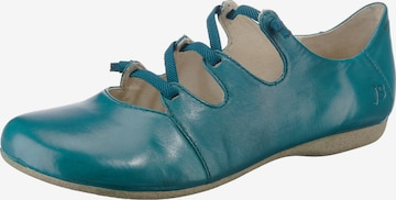 JOSEF SEIBEL Ballet Flats with Strap 'Fiona' in Blue