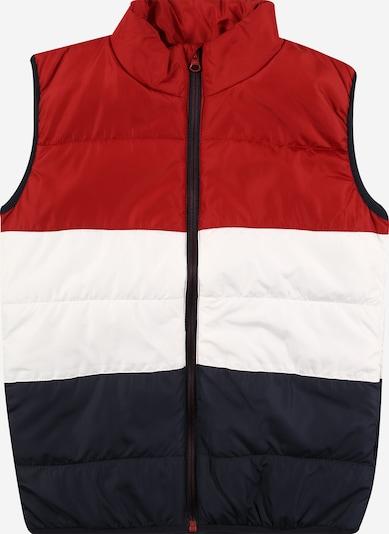 NAME IT Gilet 'MYLANE' en marine / rouge / blanc: Vue de face