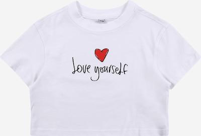 Mister Tee T-Shirt 'Love Yourself' en rouge / blanc: Vue de face