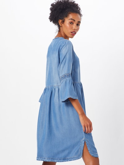 Cream Kleid 'Lussa' in blue denim: Rückansicht