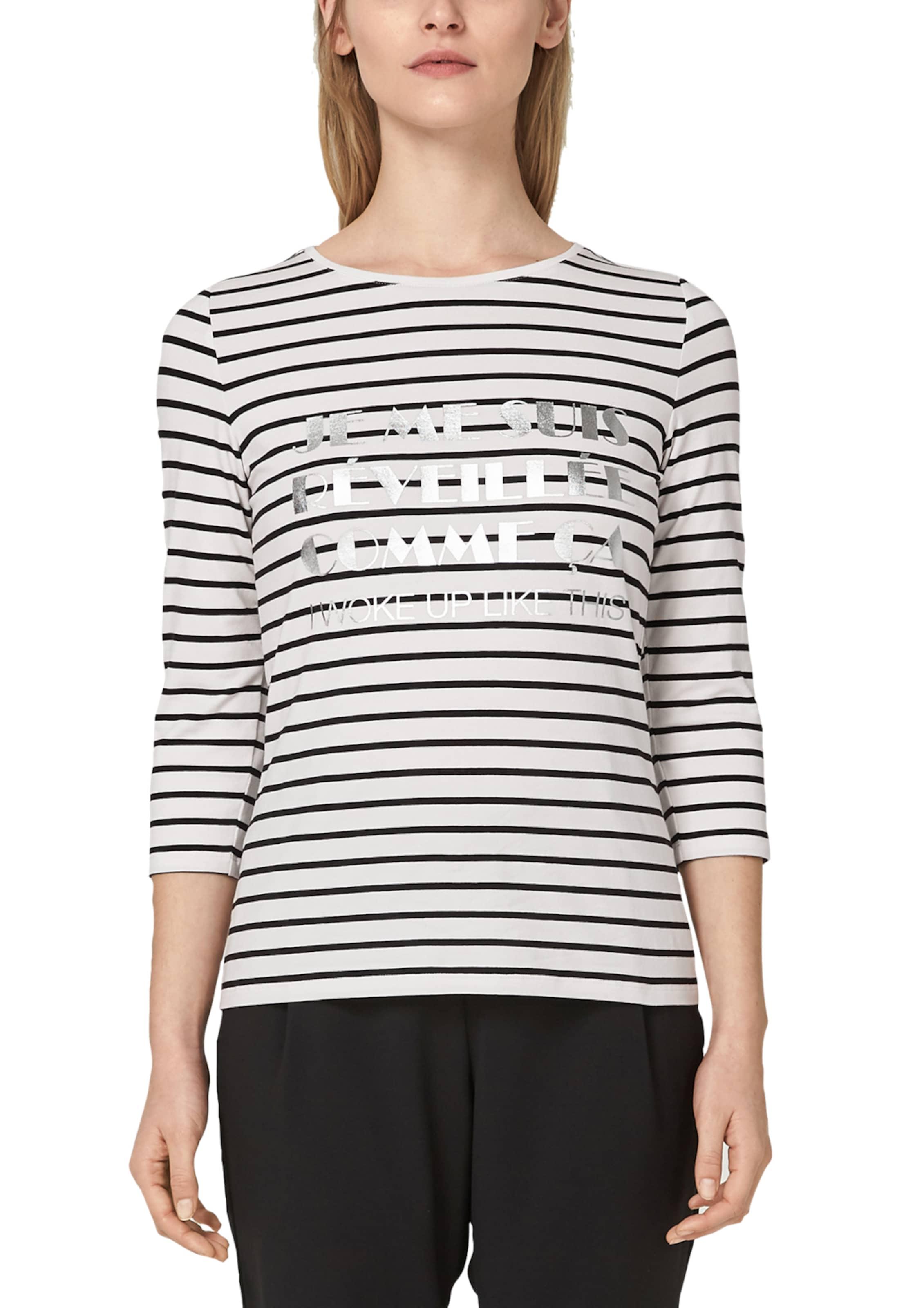 S oliver In Weiß SchwarzSilber Label Shirt Black N0Xk8OPwn