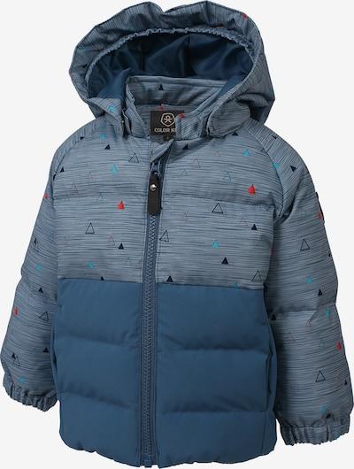 COLOR KIDS Winterjacke 'Sheik' in rauchblau / royalblau / mischfarben, Produktansicht