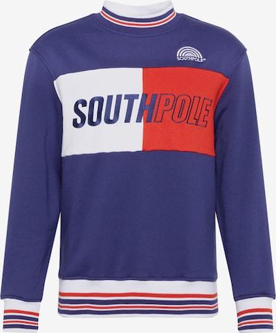 Bluză de molton SOUTHPOLE pe navy / roșu / alb, Vizualizare produs