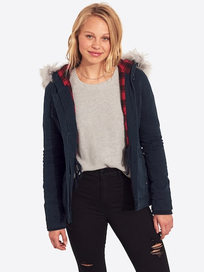 HOLLISTER Jacke 'LD19-DTC MIDWT LINED TWILL ANORAK  4CC' in navy: Frontalansicht