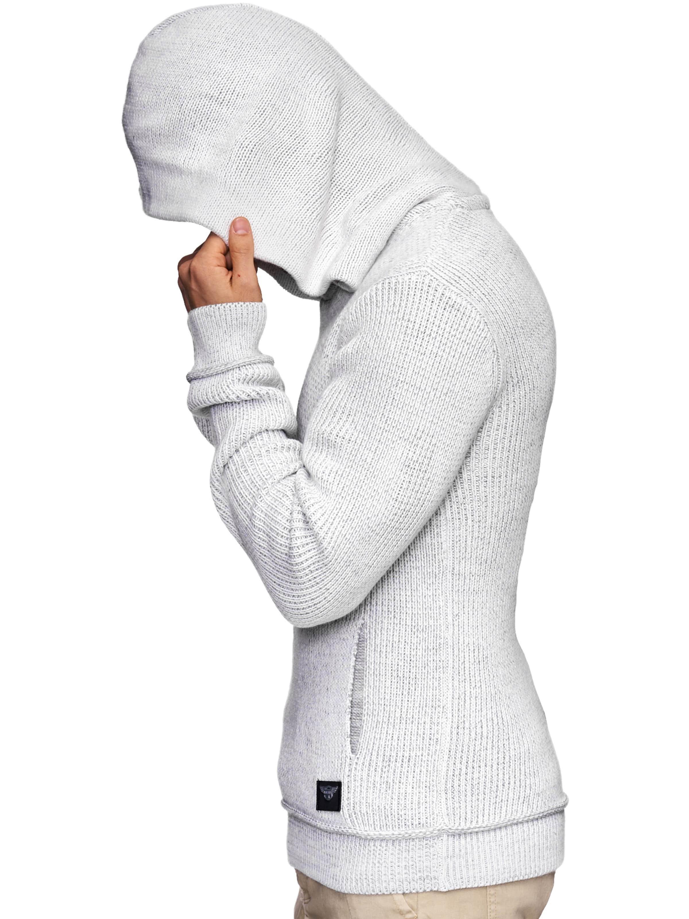 Jeans Indicode Weiß Strickpullover 'kylan' In 3jRL45Aq