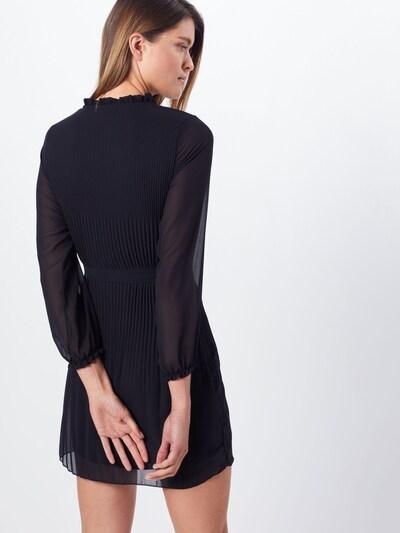 Mela London Kleita 'LONG SLEEVE PLEATED BELTED DRESS' pieejami melns: Aizmugures skats