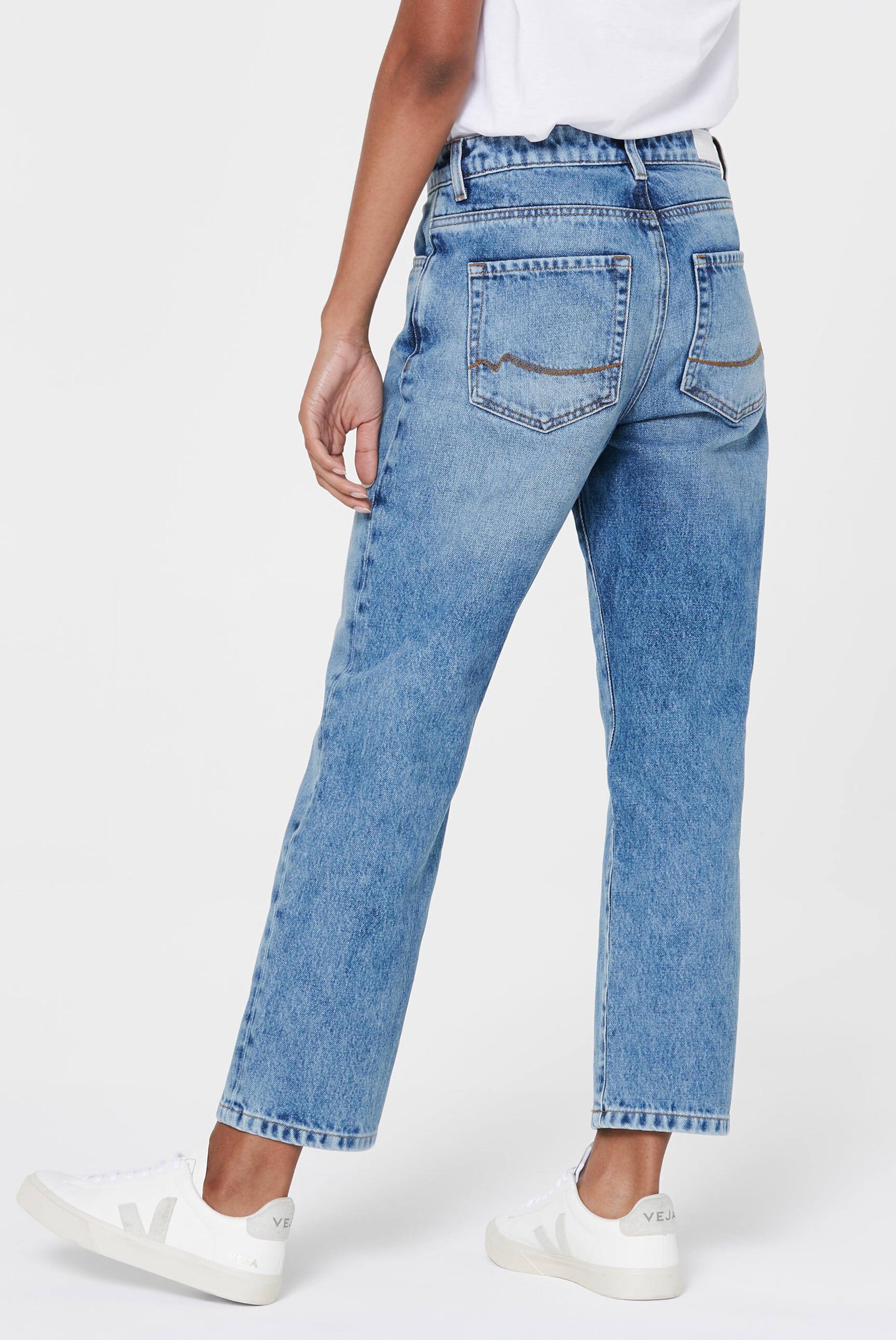 Harlem Soul Mom Fit Jeans Vintage Used in blue denim