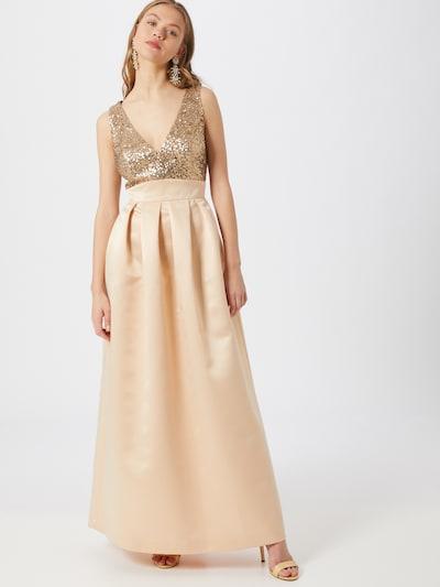 SWING Abendkleid in beige / gold: Frontalansicht