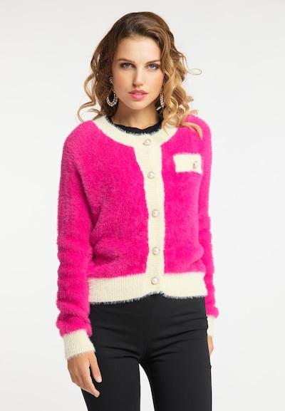 faina Strickjacke in creme / pink, Modelansicht