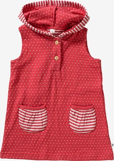 Leela COTTON Jerseykleid in rot / weiß, Produktansicht