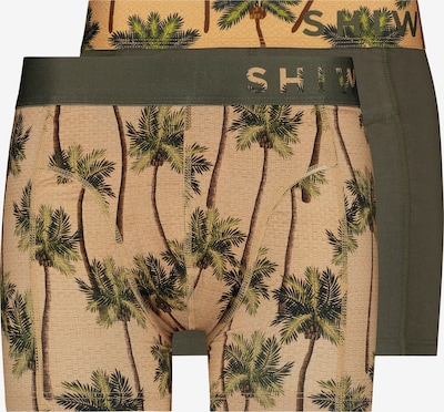Shiwi Trunks 'Coconuts' in beige / oliv, Produktansicht