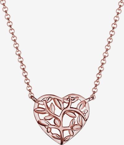 ELLI Halskette Herz, Lebensbaum in gold / rosegold, Produktansicht