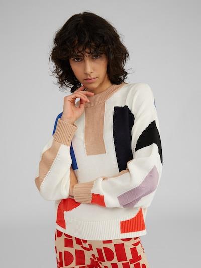 Megztinis 'Tilly' iš EDITED , spalva - smėlio / mėlyna / raudona, Modelio vaizdas