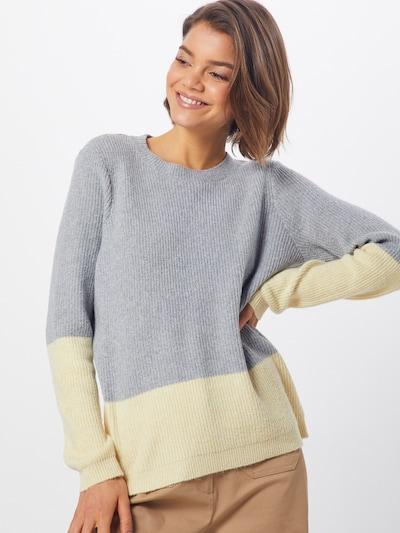 VERO MODA Pullover in gelb / grau, Modelansicht