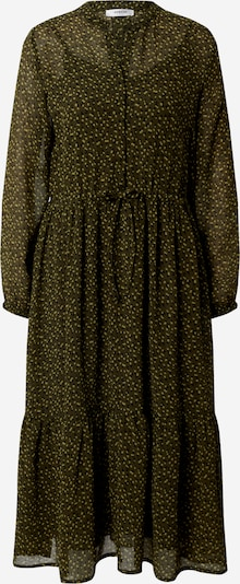 MOSS COPENHAGEN Robe-chemise 'Addie Rosalie' en jaune clair / vert foncé / noir, Vue avec produit