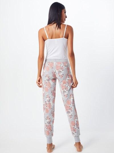 Skiny Hose in grau / rosa / weiß: Rückansicht