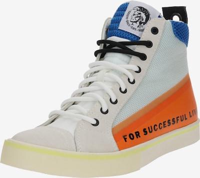 DIESEL Augstie apavi 'S-Dvelows Mid' pieejami zils / oranžs / balts, Preces skats