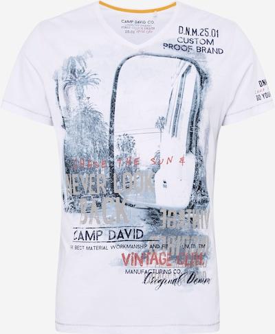 Marškinėliai iš CAMP DAVID , spalva - mišrios spalvos / balta, Prekių apžvalga