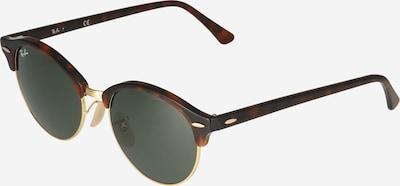 Ray-Ban Saulesbrilles 'Clubround' brūns / tumši brūns / raibi zaļš, Preces skats