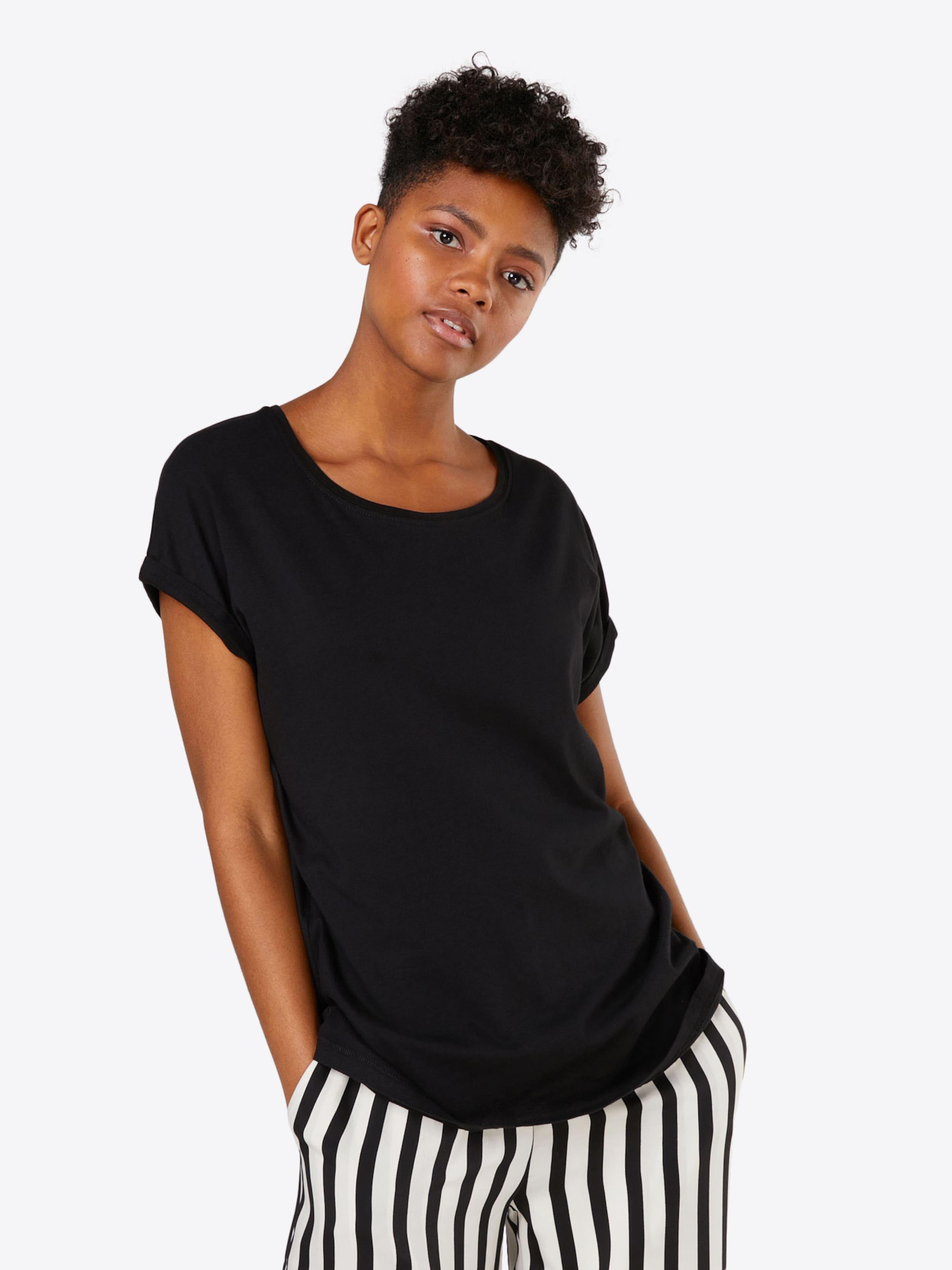 T Shoulder Tee' 'ladies Noir Extended En Urban Classics shirt SUMVpz