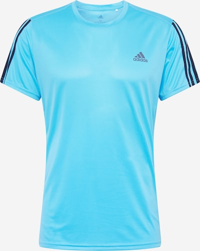 ADIDAS PERFORMANCE Functioneel shirt 'Run 3S M' in de kleur Cyaan blauw / Donkerblauw, Productweergave