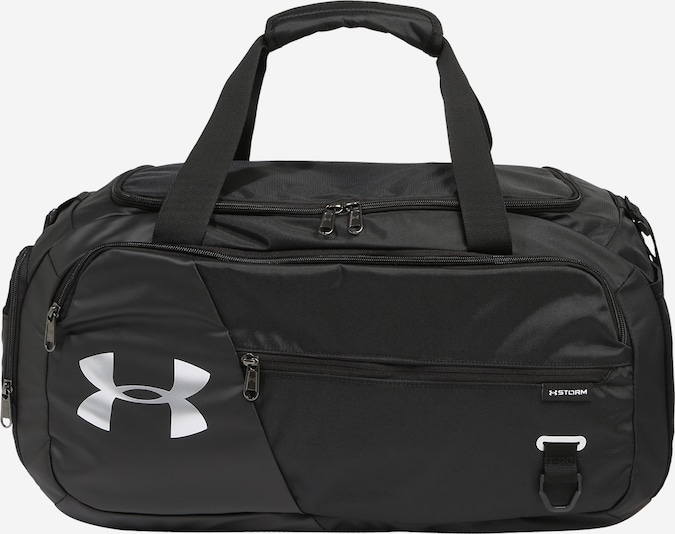 UNDER ARMOUR Sporttas 'Undeniable Duffel 4.0 SM' in de kleur Antraciet / Zwart / Wit, Productweergave