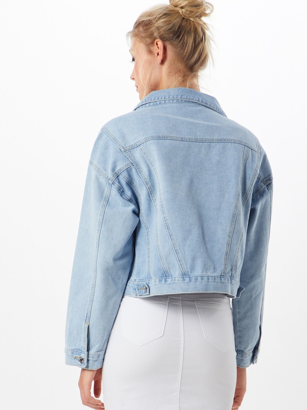 Missguided Jacke in blue denim: Rückansicht