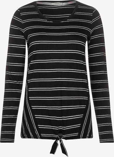 CECIL Shirt in Zwart / Wit TTy3w217