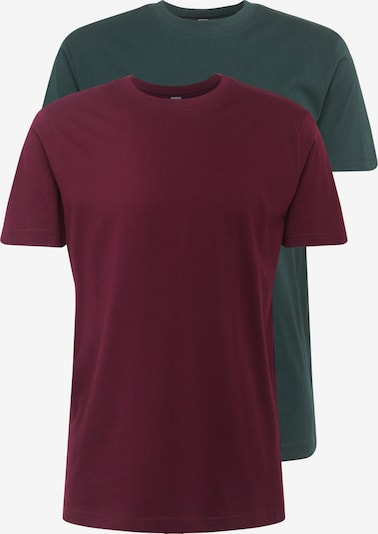 Urban Classics T-Shirt in dunkelgrün / weinrot, Produktansicht