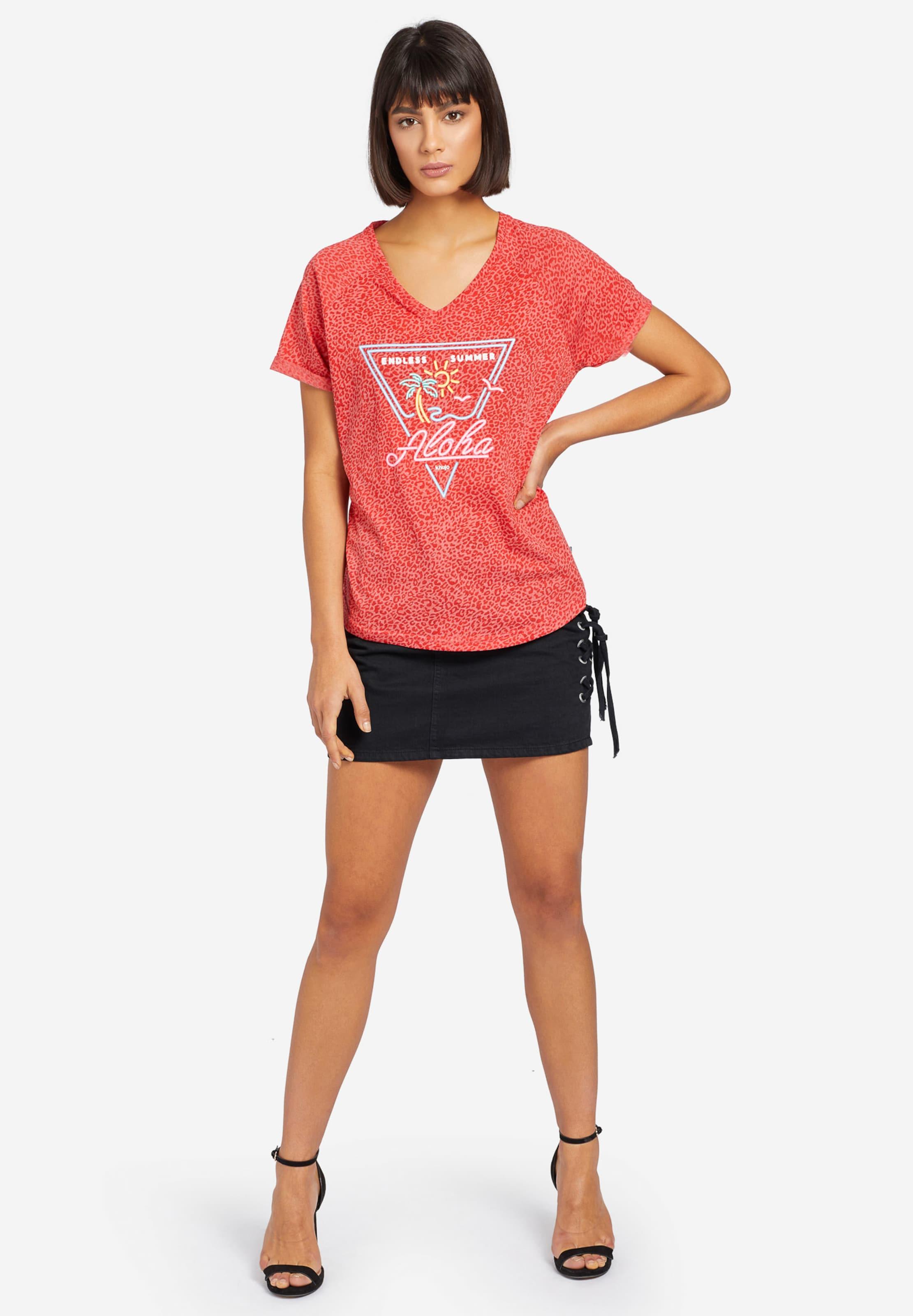 RotmeliertWeiß Khujo shirt 'vivianne' T In wn80PkOX