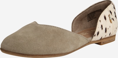 TOMS Balerīntipa apavi 'Julie D Orsay' akmens / balts, Preces skats
