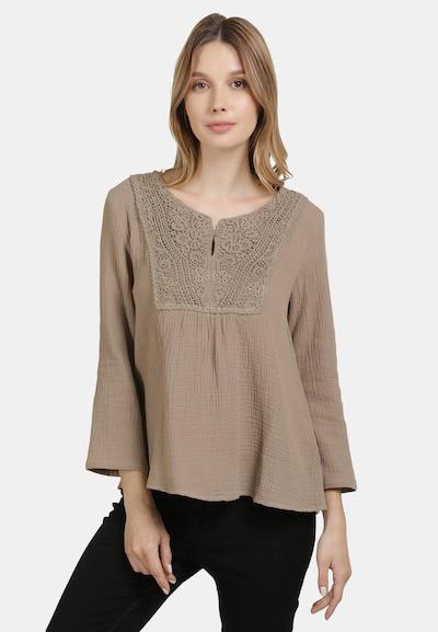 DREIMASTER Bluse in hellbraun, Modelansicht