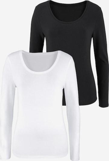 VIVANCE Langarmshirts in schwarz / weiß, Produktansicht