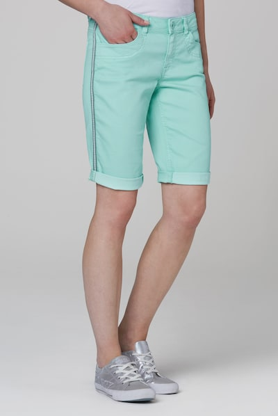 Soccx Shorts 'DE:BY' in aqua, Modelansicht
