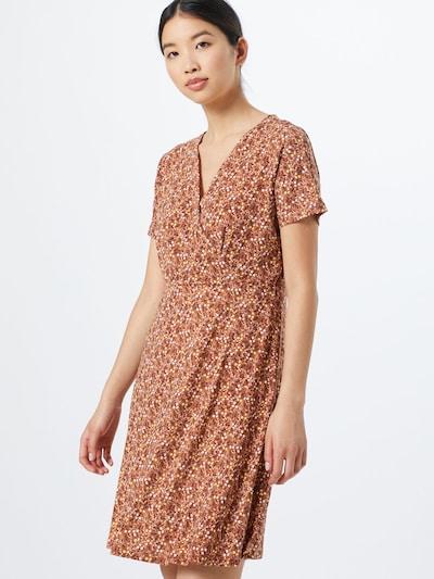 PIECES Kleid 'Emanuelle' in braun / gelb, Modelansicht