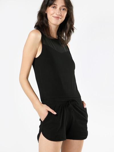 Urban Classics Jumpsuit im Material-Mix in schwarz, Modelansicht