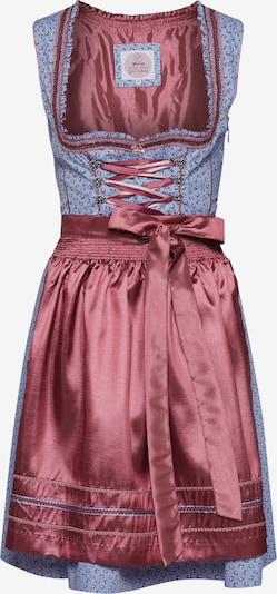 MARJO Dirndl 'Norabell' in hellblau / rosa, Produktansicht