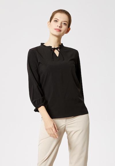DREIMASTER Bluse in schwarz, Modelansicht