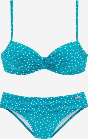 LASCANA Bikini in de kleur Neonblauw / Wit, Productweergave