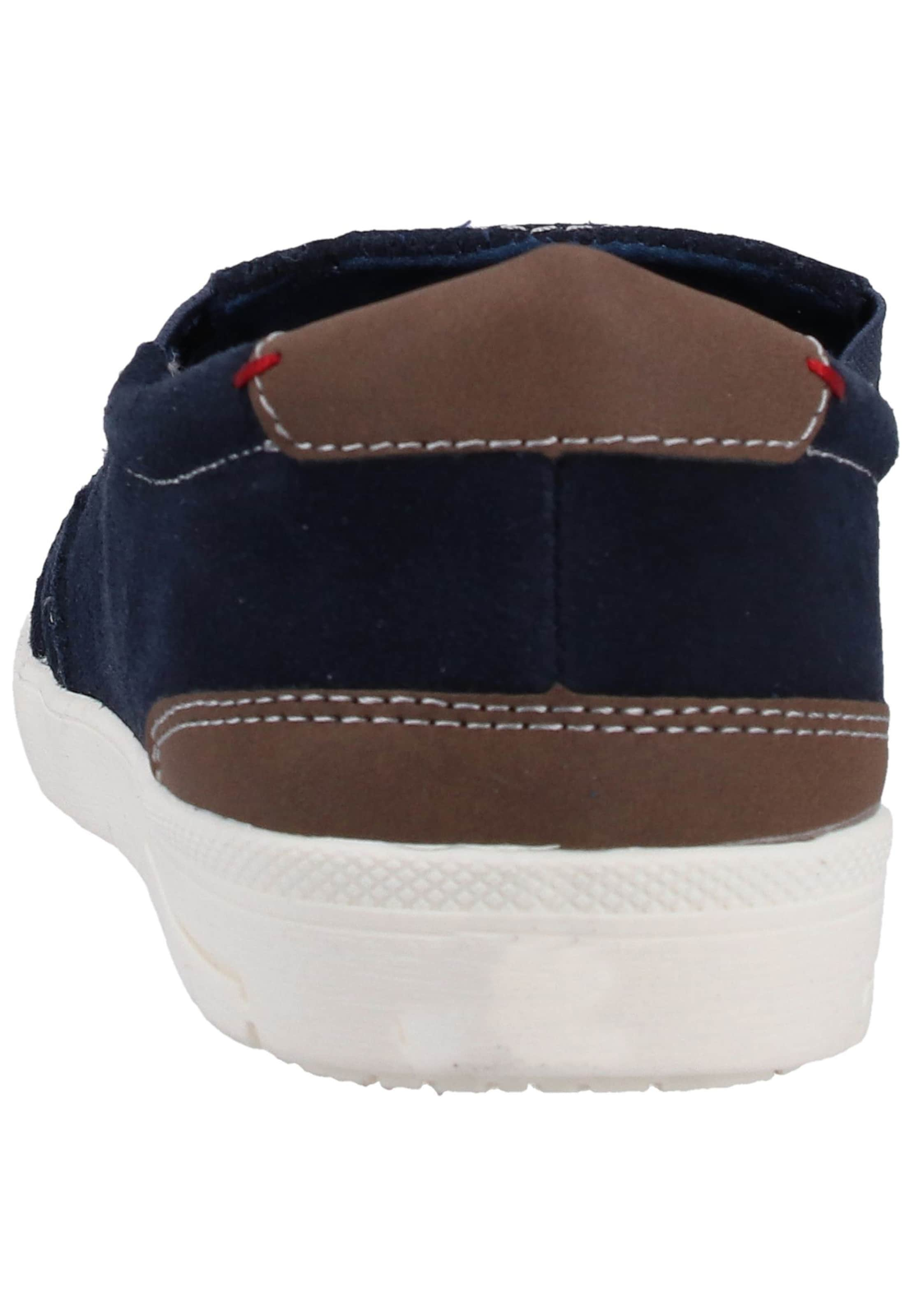 Slipper NavyBraun Red Label In oliver S ZiuOXPk