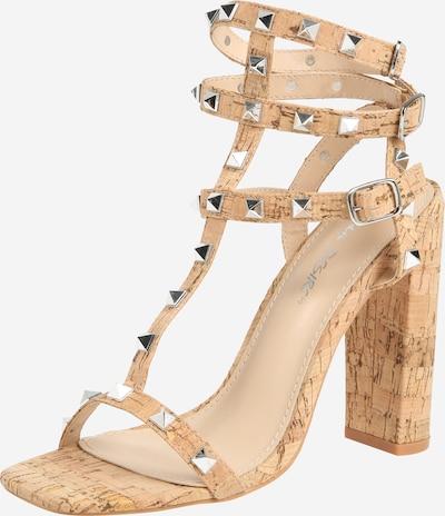 Public Desire Sandaler med rem i beige, Produktvisning