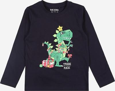 BLUE SEVEN Shirt in nachtblau / grün, Produktansicht