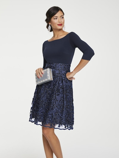 heine Cocktailkleid in dunkelblau, Modelansicht