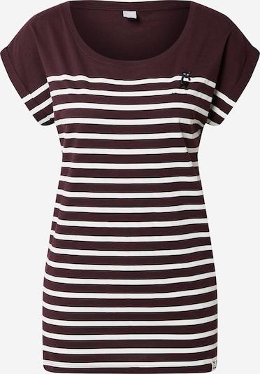 Iriedaily T-shirt 'Cat Stripe' en violet / blanc, Vue avec produit