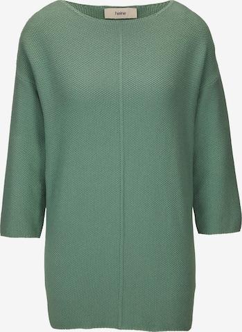 žalia heine Laisvas megztinis