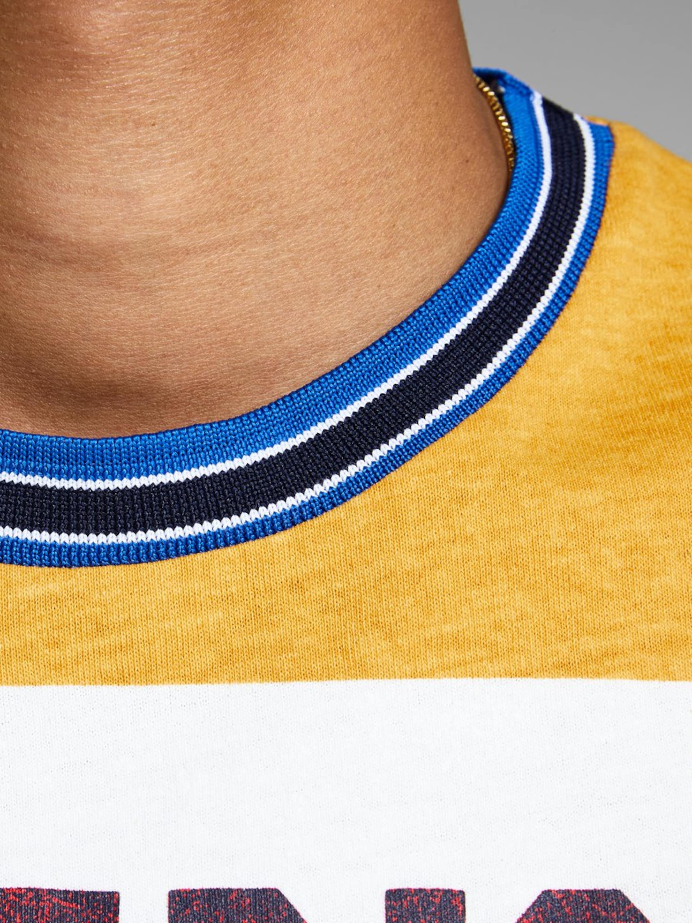 En Jones shirt Blanc BleuMarron Jackamp; T Miel Noir wOkZPiuXT