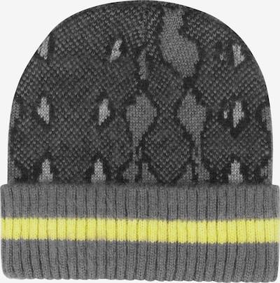 CODELLO Bonnet 'INDIAN SUMMER' en jaune fluo / gris foncé / noir: Vue de face