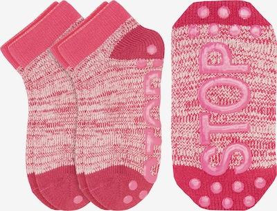 camano Socken in beige / pitaya / rot, Produktansicht