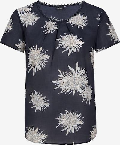 s.Oliver BLACK LABEL Bluse in beige / marine / weiß, Produktansicht